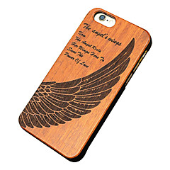 Back Cover Ultra-thin / Other Feathers Wooden Hard Carved Case Cover For Apple iPhone 6s Plus/6 Plus / iPhone 6s/6