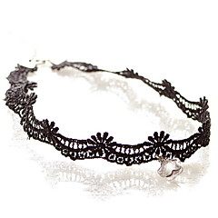 Halsband Choker-Halsband / Hänge Halsband Smycken Svartvit Spets / Tyg Dagligen / Casual 1st Present