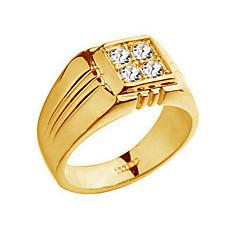 Ringar Mode Party / Dagligen / Casual Smycken Legering / Zircon Herr Bandringar 1st,8 / 9 / 10 Gyllene / Silver