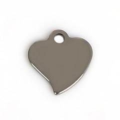 Amuletos Metal Heart Shape Como en la foto 50Pcs
