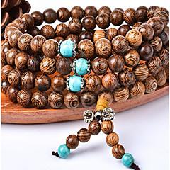 Unisex 108 Wood Strand Bracelet
