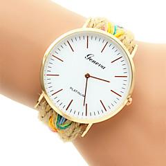 Women's Fashion Watch Bracelet Watch Quartz Casual Watch Fabric Band Multi-Colored Brand