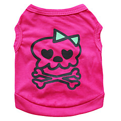 Katzen / Hunde Kostüme / T-shirt Rose Hundekleidung Sommer Totenkopf Motiv Modisch / Cosplay / Halloween