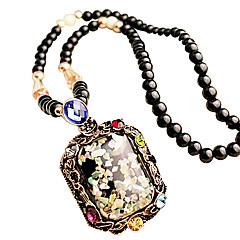 Women's Fashion Square Style Pendant Necklace