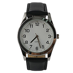 Hombre Mujer Reloj de Moda Cuarzo Reloj Casual PU Banda Encanto Negro Negro