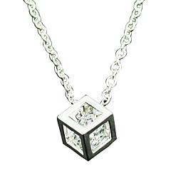 Women's 925 Silver Cubic Diamond Pendant Necklace