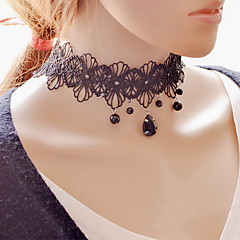 Necklace Choker Necklaces Pendant Necklaces Tattoo Choker Jewelry Daily Casual Tattoo Style Sexy Fashion Lace Fabric 1pc Gift Black-White