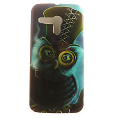 Voor Motorola hoesje Patroon hoesje Achterkantje hoesje Uil Zacht TPU Motorola Moto G