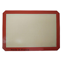 1Pc Silicone Baking Mat 42*29.5cm Non-Stick Silicone Baking Sheet Red
