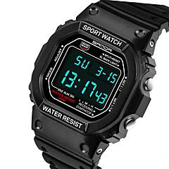 SANDA Herr Sportsklocka Digital klocka Quartz Digital Japansk kvartsur LCD Kalender Vattenavvisande alarm Självlysande Stoppur Gummi Band