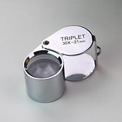 (2 pcs) de haute qualité créative étanche 30 fois la loupe / évaluation de bijoux / lumière ultraviolette / métal