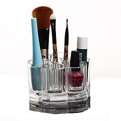 Organizador para Maquiagem Caixa de Cosméticos / Organizador para Maquiagem Plástico / Acrílico Cor Única Redonda 9.2x9.2x5.9