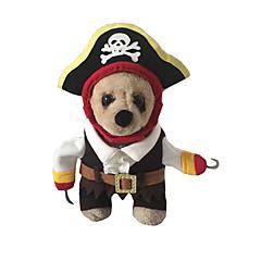 Gatos / Perros Disfraces / Accesorios Rojo / Negro / Blanco Invierno / Primavera/Otoño Cráneos / Halloween Cosplay / Halloween