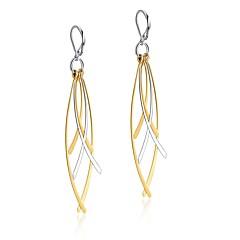 Κρεμαστά Σκουλαρίκια Ανοξείδωτο Ατσάλι Βοημία Style Leaf Shape Χρυσαφί Κοσμήματα Πάρτι Καθημερινά 1 ζευγάρι