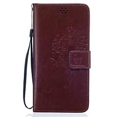Voor Samsung Galaxy hoesje Portemonnee / Kaarthouder / met standaard hoesje Volledige behuizing hoesje Paardenbloem Zacht PU-leer Samsung