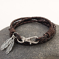 Leather Weave Bracelet (1 Set)