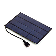 4W 5V USB Output Monocrystalline Silicon Solar Panel Charger for iPhone 6S Samsung HUAWEI (SW4005U)