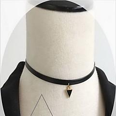 Modische Halsketten Halsketten Schmuck Alltag / Normal Modisch / Sexy Aleación / Spitze Schwarzweiß 1 Stück Geschenk