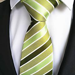 De Moda Amarillo / Verde Tejido Hombre Tie Bar-1 pieza