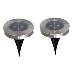 6W LED-verlichting op zonne-energie 200 lm Warm wit Dip LED Batterij V 2 stuks