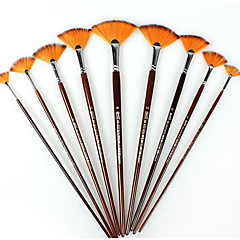 Biao New Nepalese Nylon Wool Pole Brush Painting Watercolor Painting Fan Kit Exam Pen Art Supplies