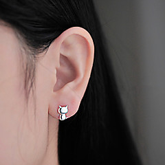 Damskie Modny Godny podziwu minimalistyczny styl Słodkie Style Srebro standardowe Animal Shape Kot Biżuteria Na Codzienny Casual
