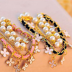Women Fabric/Alloy 23cm Round Chain Bracelets