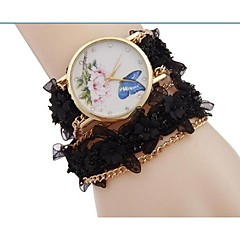 Women's Fashion Watch Bracelet Watch Casual Watch Quartz Alloy Band Flower Bohemian Cool Black White Blue Red Brown Green Grey Rose