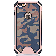 For iPhone 6 etui / iPhone 6 Plus etui Stødsikker Etui Bagcover Etui Camouflage Hårdt PC AppleiPhone 6s Plus/6 Plus / iPhone 6s/6 /
