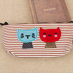 Cat Textile Cartoon Stationery Bag