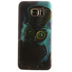 Varten Samsung Galaxy S7 Edge Kuvio Etui Takakuori Etui Pöllö Pehmeä TPU SamsungS7 edge / S7 / S6 edge / S6 / S5 Mini / S5 / S4 Mini / S4