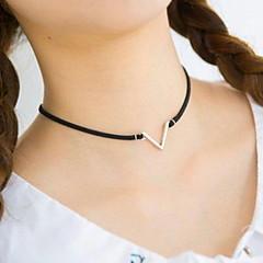 Halsband Choker-Halsband Smycken Dagligen / Casual Mode / Sexig Legering / Spets Svartvit 1st Present