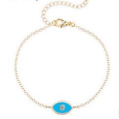 Kiming Korean Seweet Gold/Silver Blue Eye Chain Tiny Bracelet Jewelry