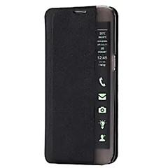 For Samsung Galaxy etui Med stativ / Med vindue / Auto sov/vågn / Flip / Ultratyndt Etui Heldækkende Etui Other Hårdt Kunstlæder Samsung
