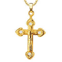 Pendants Metal Cross Shape Golden / White 50