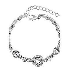 Dame Kæde & Lænkearmbånd Charm-armbånd Krystal Kærlighed Mode Justérbar Zirkonium Legering Hjerteformet Smykker Kærlighed Smykker Til