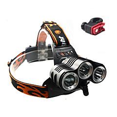 Czołówki / Światła rowerowe / Przednia lampka rowerowa Cree XM-L T6 KolarstwoWodoodporne / Akumulator / Odporne na czynniki zewnętrzne /