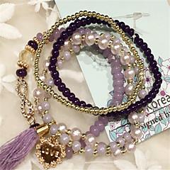 Korean wild tassel multilayer crystal bracelet sweet female students