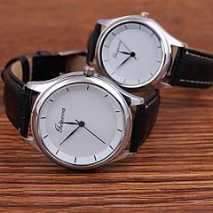Pareja Reloj de Moda Cuarzo Reloj Casual PU Banda Negro Marca