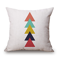 Cotton/Linen Pillow Cover,Novelty / Geometric / Graphic Prints Modern/Contemporary / Casual