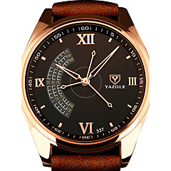 Heren Dress horloge Modieus horloge Polshorloge Kwarts / PU Band Vrijetijdsschoenen Cool Zwart Bruin Zwart Bruin