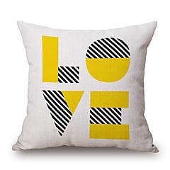 Puuvilla/pellava Tyynynpäälinen,Geometrinen / Tilkkutyö / Lainaukset Moderni/nykyaikainen / Rento / Korostus/koriste