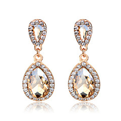 Drop Earrings Earrings Fashion Elegant Bridal Adorable Zircon Imitation Diamond Alloy Drop Champagne Jewelry ForWedding Party Anniversary