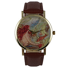 Fashion Popular Phase Paper Mermaid Cartoon Pictorial Female Student Watch
