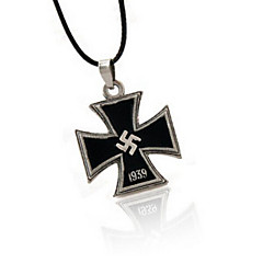 Black Black Cross Pendant Necklace Many Military Belief