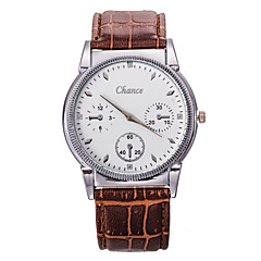 Masculino Relógio Elegante Quartz / Couro Banda Casual Preta / Azul / Vermelho / Marrom / Cinza / Roxa marca