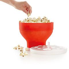 Fabricante de pipoca de microondas de silicone balão de palhaçaria pop com tampa utensílios de cozinha