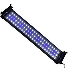 20 pulgadas (50 cm) llevaron soporte extensible luz azul y blanco ac 100-240v acuario llevó pescados de la lámpara enchufe de EE.UU.