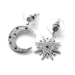 Dame Dråbeøreringe Mismatch Mode luksus smykker Plastik Simuleret diamant Stjerneformet Smykker Til Daglig Afslappet