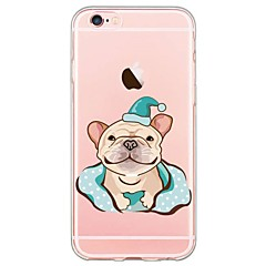 Small Bulldog Pattern Soft Ultra-thin TPU Back Cover For iPhone 6s Plus/6 Plus/6s/6/5s/5/SE